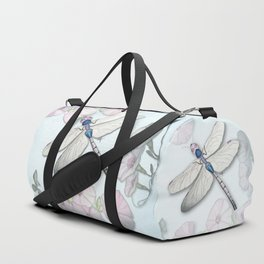Dragonfly and Morning Glories Duffle Bag