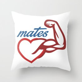 - Mates Throw Pillow