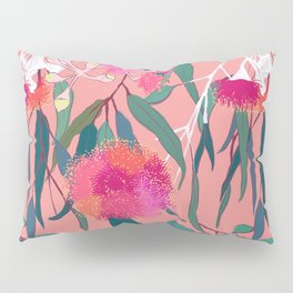 Australian Gumnut Eucalyptus Floral in Dusty Peach Pillow Sham