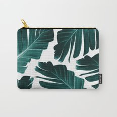Tropical Banana Leaves Dream #1 #foliage #decor #art #society6 Carry-All Pouch