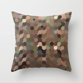 maija - variegated soft earth tone abstract pattern Throw Pillow