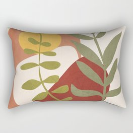 Two Abstract Branches Rectangular Pillow