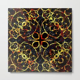 Flashy Colorful Boho Pattern Metal Print