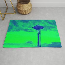 Space Needle (Seahawks Colors) Rug