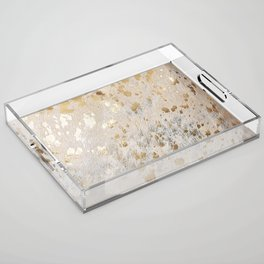 Gold Hide Print Metallic Acrylic Tray