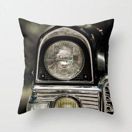 closeup of classic luxury car Throw Pillow
