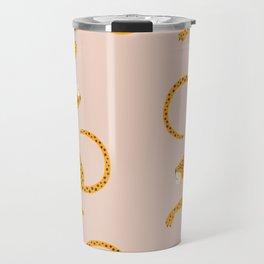 Leopard Race - pink Travel Mug