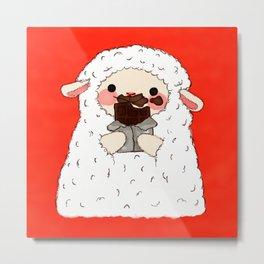 Chocolate Lamb Metal Print