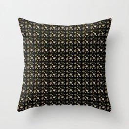 Jewish Black Pattern  Throw Pillow