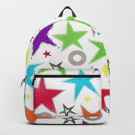 Trendy colourful star Backpack