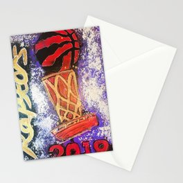 raptors 5,champion,basketball,gold,poster,wall art,2019,winners,NBA,finals,toronto,canada,painting Stationery Cards