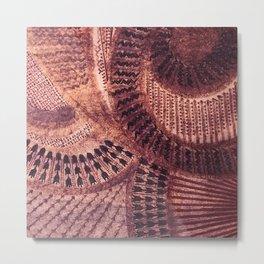 French Polynesia Tahiti Tropical Basket Weave Circles Metal Print