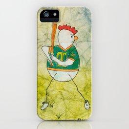 Baseball Chicken iPhone Case