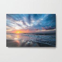 Daybreak at Hilton Head - Sunrise Along Beach at Hilton Head Island in South Carolina Metal Print