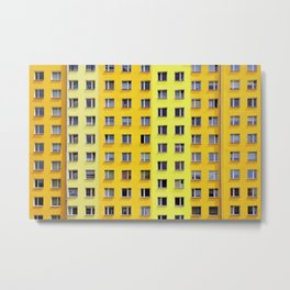 Yellow Urban Geometry Metal Print