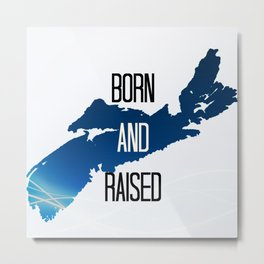 born and raised Metal Print