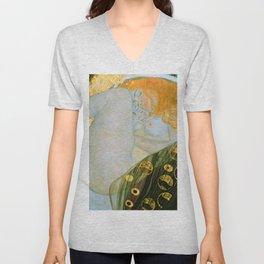 """Gustav Klimt """"Danaë"""" Unisex V-Neck"""