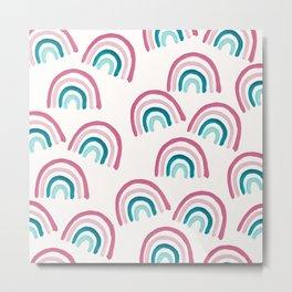 Rainbow Dream Pattern #1 (Kids Collection) #decor #art #society6 Metal Print