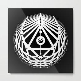 Radiant Abundance (black-white) Metal Print