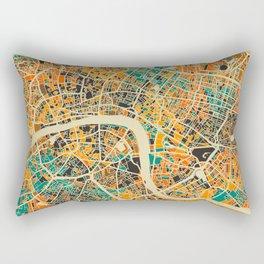London Mosaic Map #3 Rectangular Pillow