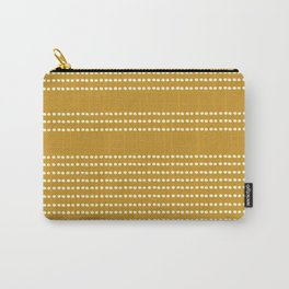 Spotted, Mudcloth, Mustard Yellow, Wall Art Boho Carry-All Pouch