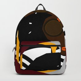 Font Face 1 ii on print Backpack