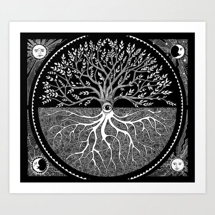 Druid Tree of Life Kunstdrucke