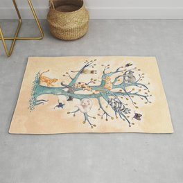 The tree of cat life Rug