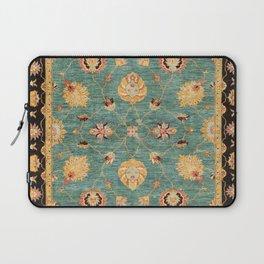 Oushak  Antique Gold Teal Turkish Rug Print Laptop Sleeve