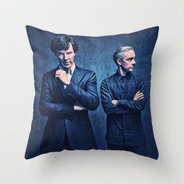 Sherlock and John Throw Pillow