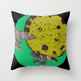 Around the Moon Pink and Purple Experimental Version #6 Throw Pillow