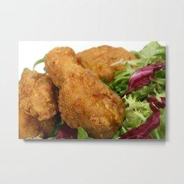 fried chicken Metal Print