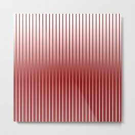Red Variegated Reverse Stripe Vertical Metal Print