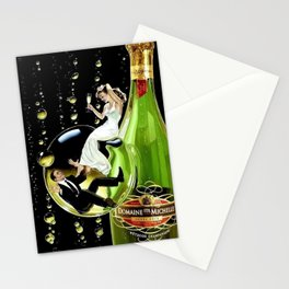 Vintage Domaine Ste. Brut Michelle Champagne Advertisement Poster Stationery Cards