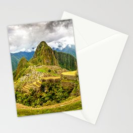 Machu Picchu Ancient Mountain City Stationery Cards