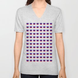 Flag of russia -with soft square Unisex V-Neck