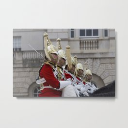Household Cavalry Changing Of The Guard Metal Print