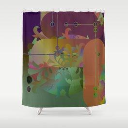 Retro Kimono Shower Curtain
