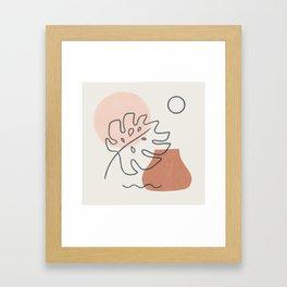 a warm feeling Framed Art Print