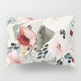 Loose Watercolor Bouquet Kissenbezug