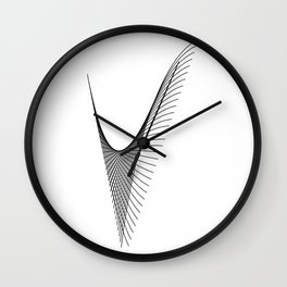 """Linear Collection"" - Minimal Letter V Print Wall Clock"