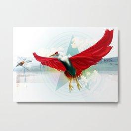 Heron Mon Heros Metal Print