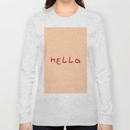 hello 4- ceramic colors Long Sleeve T-shirt