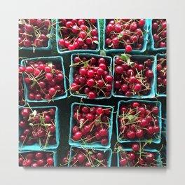 Farmer's Market Cherries Metal Print