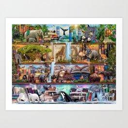 The Amazing Animal Kingdom Art Print