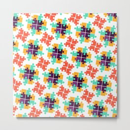 Jigsaw Puzzle Autism Pattern Gift Metal Print
