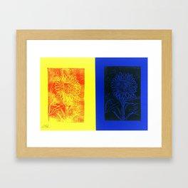 Sunflower Printwork Framed Art Print