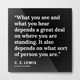 69    | 191121 | C. S. Lewis Quotes Metal Print