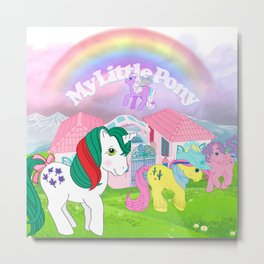 g1 my little pony Metal Print
