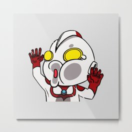Chibi Of Ultra Metal Print